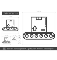 Packaging box line icon vector