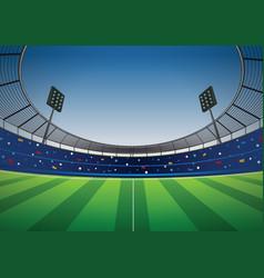 soccer football stadium background vector image vector image