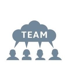 Team concept vector image