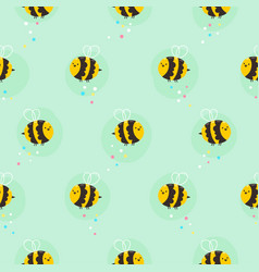 bee pattern vector image vector image