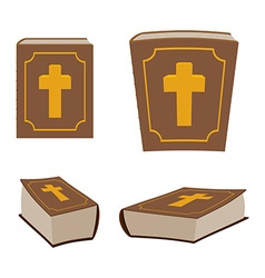 Bible is Holy Book set Different version of Holy vector image vector image