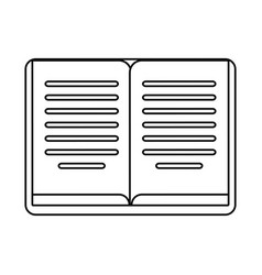 book learning library outline vector image
