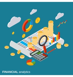 Business report financial diagram analytics vector image vector image