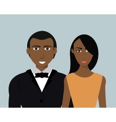Couple of humans design vector image