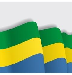 Gabon waving Flag vector image vector image