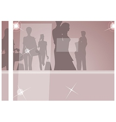 Glamorous Fashion Silhouettes vector image