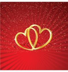 interlocking hearts vector image vector image
