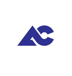 letter ac logo vector image vector image