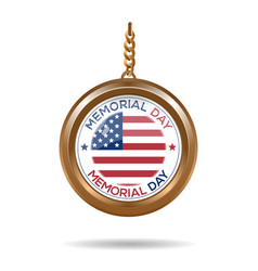 round medallion for memorial day vector image vector image