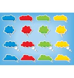 bubbles cloud color vector image