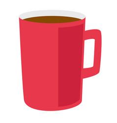 red coffee cup cartoon vector image