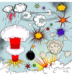 vector comic book explosion vector image