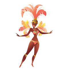 brazilian samba dancer carnival girl vector image
