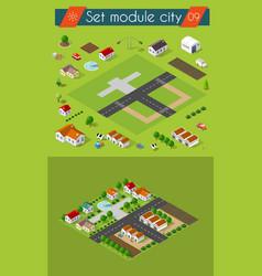 cityscape city street public house vector image vector image