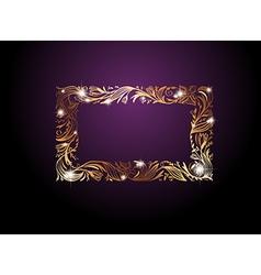 Golden Floral Decorative Frame vector image vector image