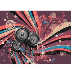 Grunge Loud Speaker vector image