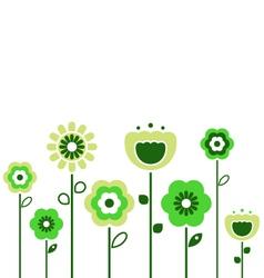 retro spring flowers vector image vector image