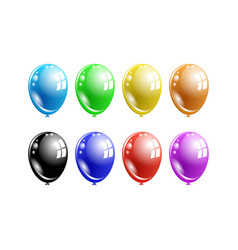 A set of multi-colored balloons vector