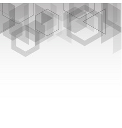abstract gray cubes geometric shape background vector image
