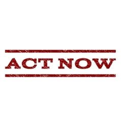 Act Now Watermark Stamp vector image