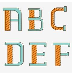 Alphabet letters a b c d e f vector image