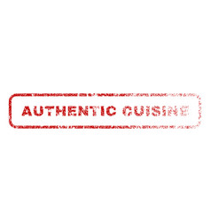 authentic cuisine rubber stamp vector image