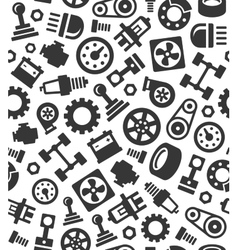 Auto Car Spare Parts Seamless Pattern Background vector