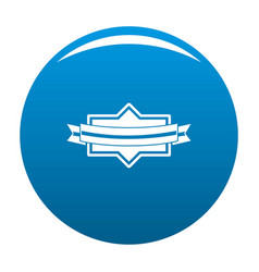 badge ribbon icon blue vector image