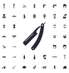 Barber razor icon vector