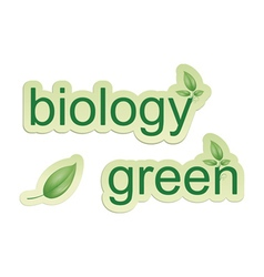 Biology signs vector