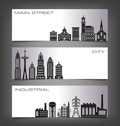 Building Banners vector