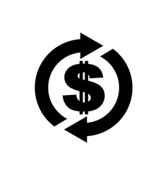 cash back icon symbol is return of money sign of vector image