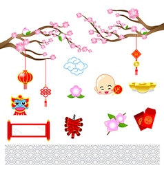Chinese new year modern art with chinese style for vector