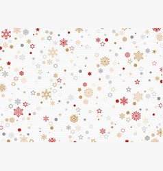 christmas pattern with snowflakes and stars vector image