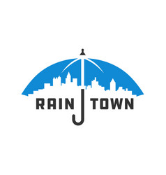 city umbrella logo vector image
