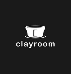 Clay craft logo design clean simple minimalist vector