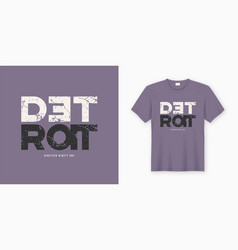 detroit stylish t-shirt and apparel design vector image