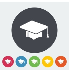 Education flat icon vector image