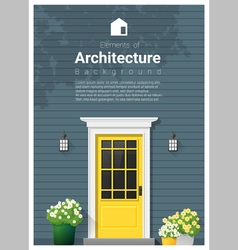 Elements of architecture front door background 12 vector image
