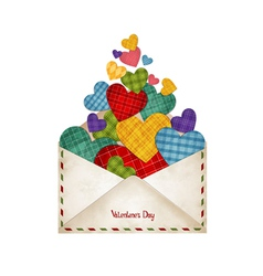 Envelope with hearts vector image