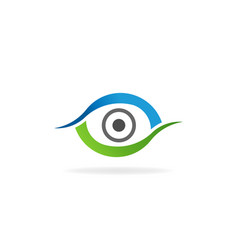 eye care optical retina logo symbol vector image