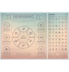 Food line design infographic template vector