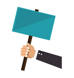 hand human with protest label vector image