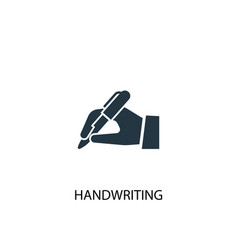 Handwriting icon simple element vector