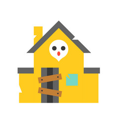 Haunted house icon amusement park related flat vector