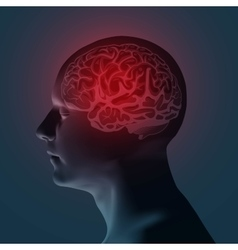 Healthcare and migraine concept vector