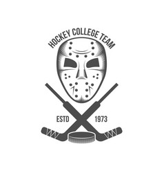 hockey logo badge design elements vector image