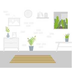 interior of the living room vector image