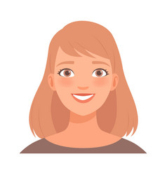 joyful smile on face a young woman vector image