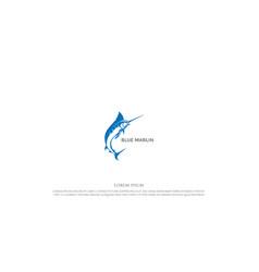 jumping marlin sword fish for angler fishing vector image